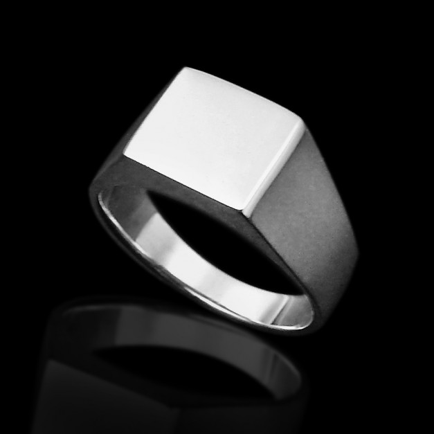 Sterling Silver Square Ring