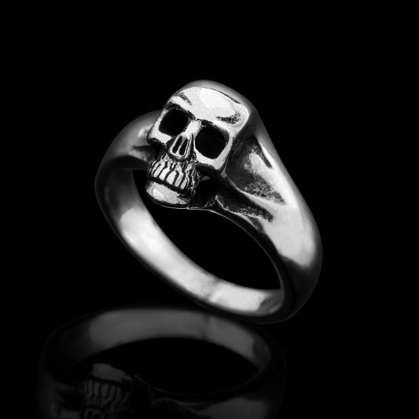 Sterling Silver Small Skull Ring