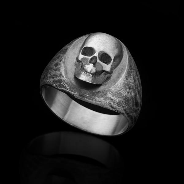Penny- silver skull ring