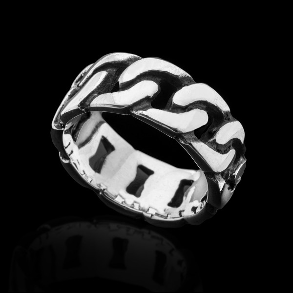 Silver Links Ring