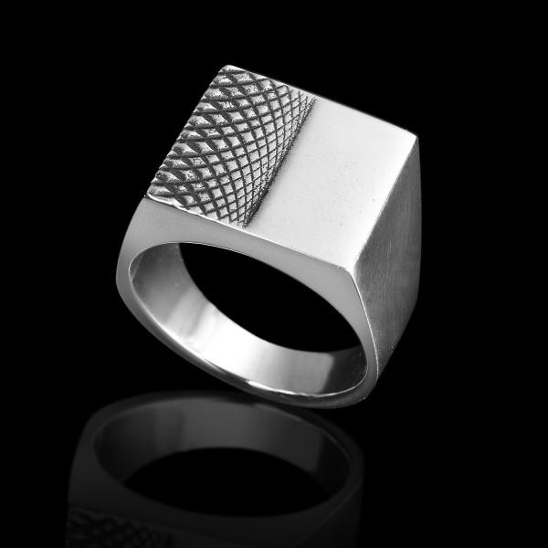 Silver Half Head Ring