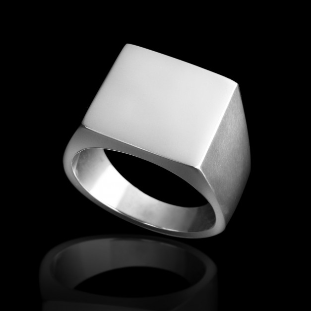 Silver Square Ring