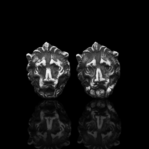Silver Lions Earrings
