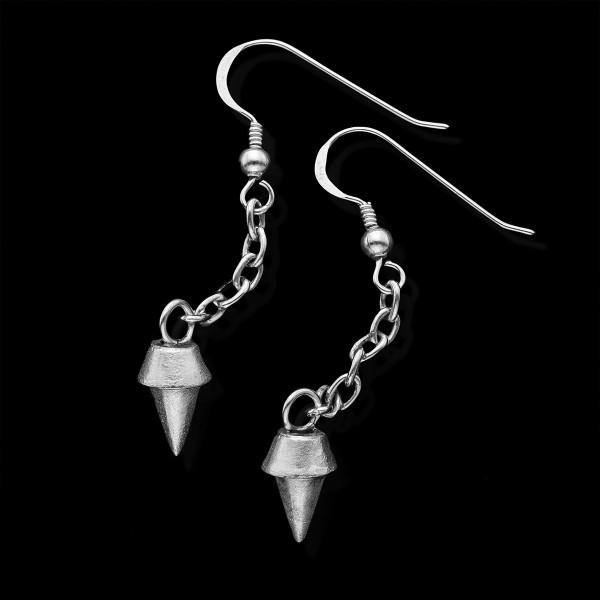 Silver Spikes Earrings