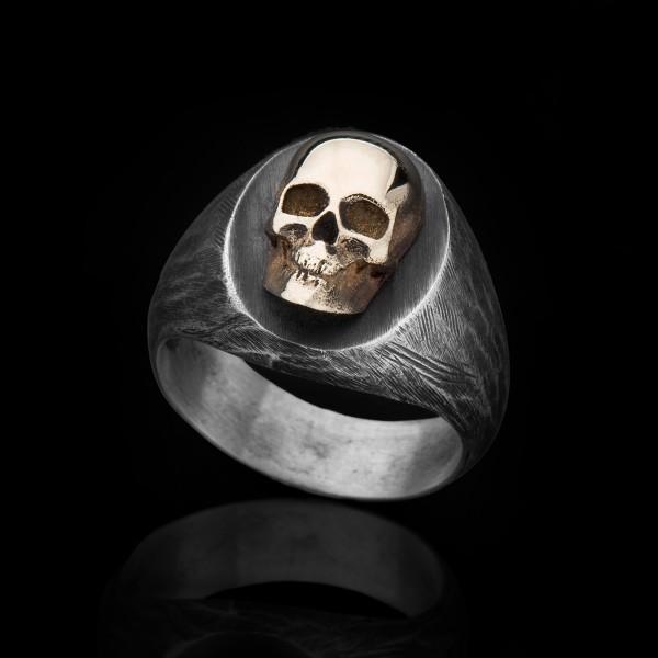 Penny- Silver & 9K Skull ring