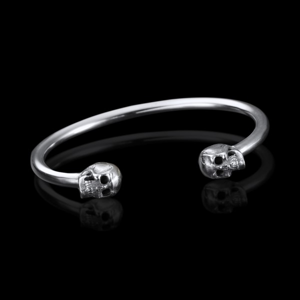 Silver Skulls Cuff
