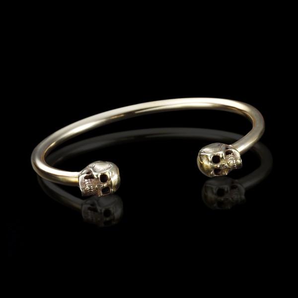 Brass Skulls Cuff