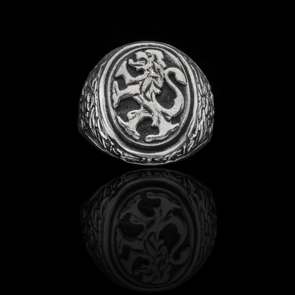 Silver Lion Ring